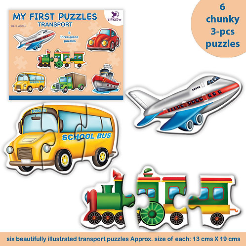2-pcs Toddler Puzzle - Transport