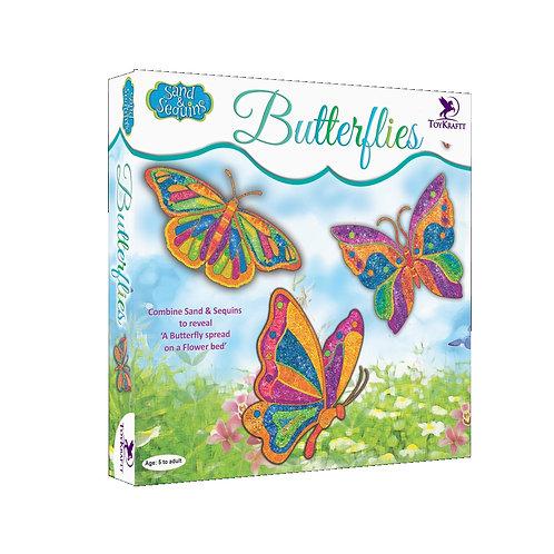 Pictured In Sand & Sequin Craft - Butterflies
