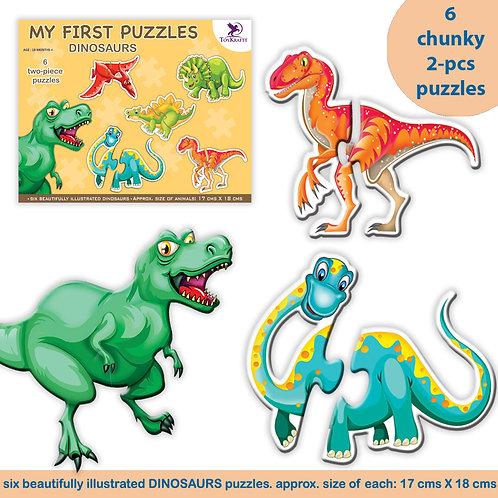 2-pcs Dinosaur puzzle for kids