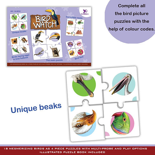 Bird Watch - 72 Self Correcting Jigsaw Pieces for Ages 5 6 7