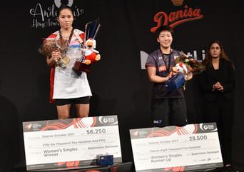 デンマークオープンスーパーシリーズプレミア 女子シングルス決勝戦観戦記
