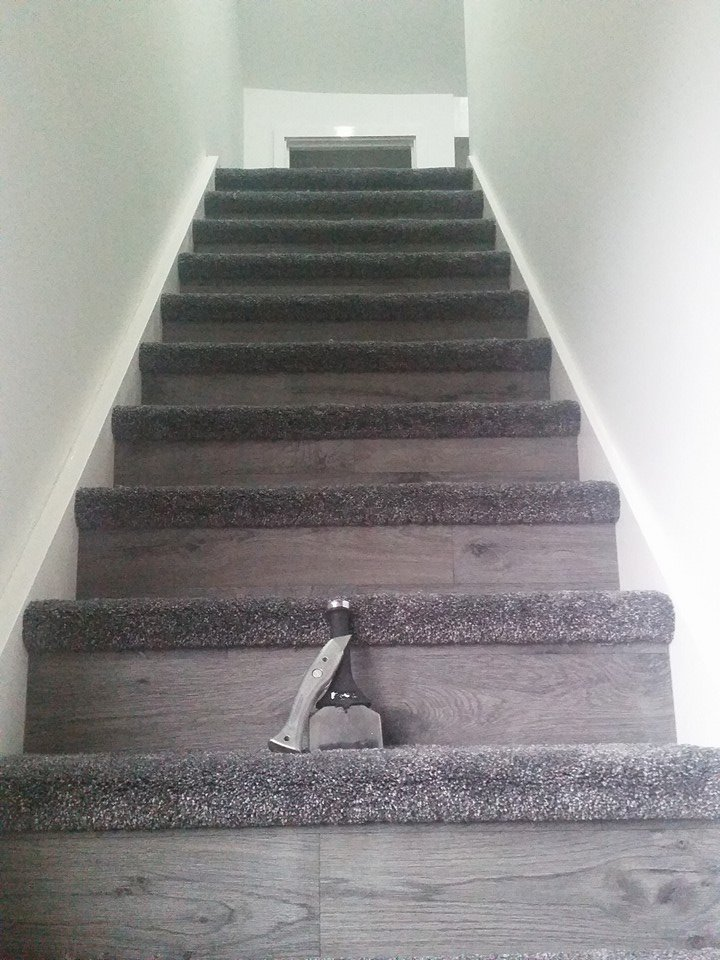 grey wood_carpet stairs