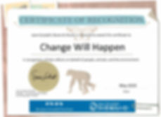 2019-05 roots&shoots cert for change wil