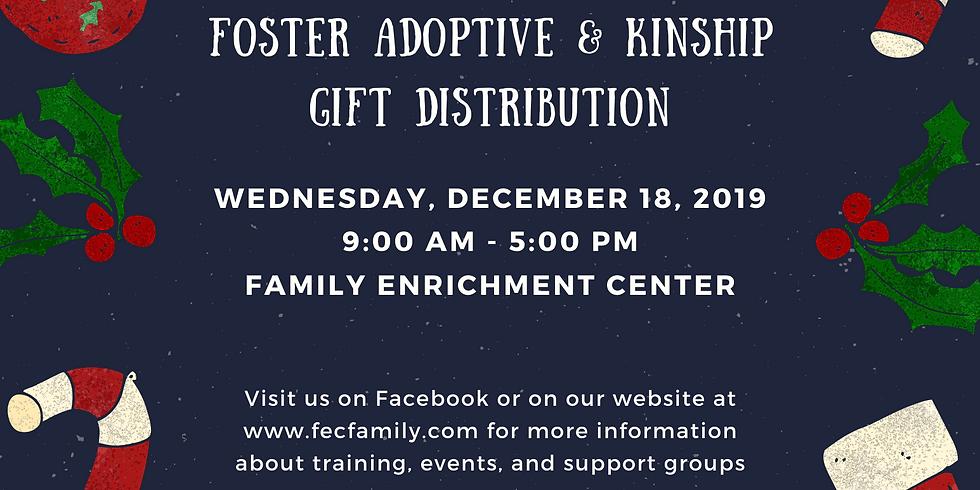 Foster Adoptive and Kinship Christmas Gift Distribution
