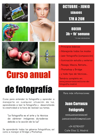 Curso anual de fotografía