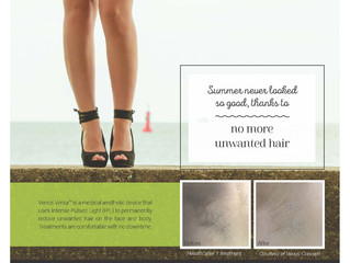No more unwanted hair - Pain-free laser hair removal