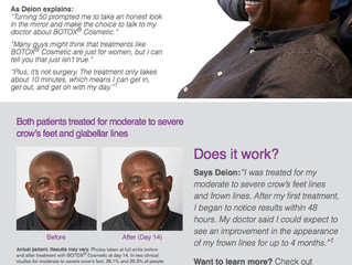 Deion Sanders tackles frown lines with Botox