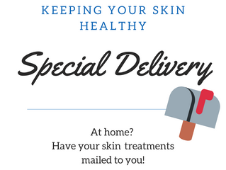 Keeping your skin healthy.  We can mail your skincare too!