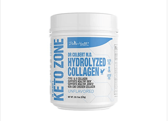 Keto Zone Hydrolyzed Type 1 and 2 Premium Chicken Collagen