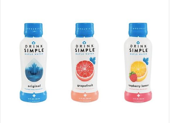 Maple: 12 oz. Original Maple, Raspberry Lemon & Grapefruit Maple Water Mix