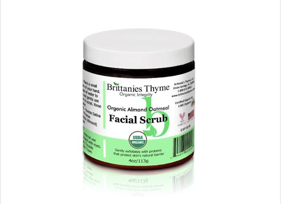 Brittanie's Thyme: Organic Almond Oatmeal Facial Scrub
