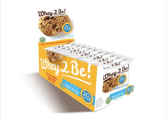 Whey 2 Be: Banana Oatmeal Chocolate Chip Cookies