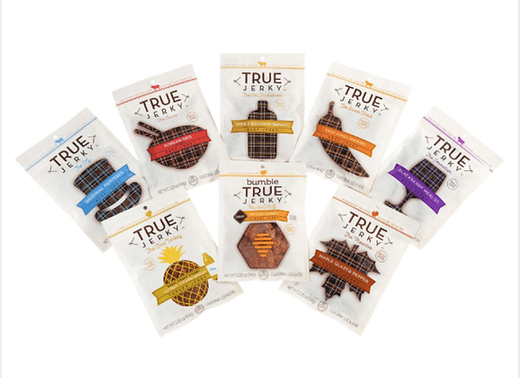 True Jerky: The Party Pack: 8 Bags/Month