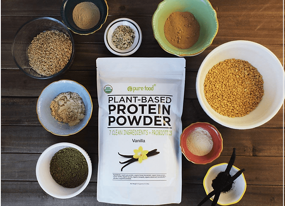 Pure Food Plant Protein Powder™ with Probiotics: VANILLA