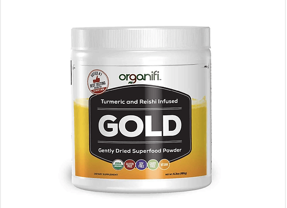 Organifi: Turmeric and Reishi Infused (Gold)
