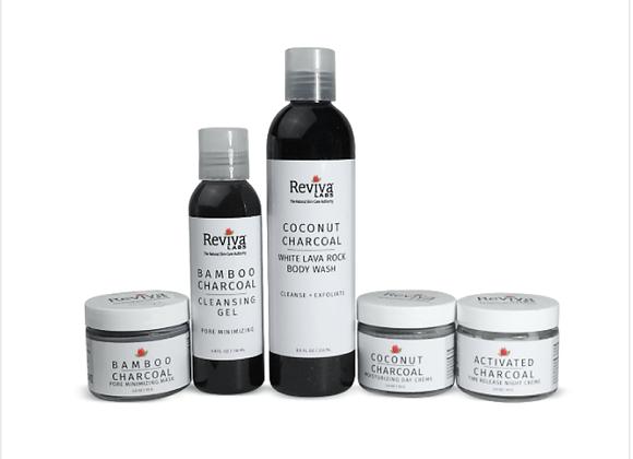 Reviva Labs: Charcoal Skin Care Treatment Regimen Bundle
