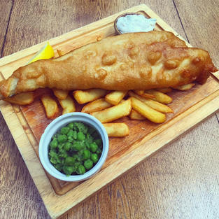 The Mighty Green Man Haddock and Chips!