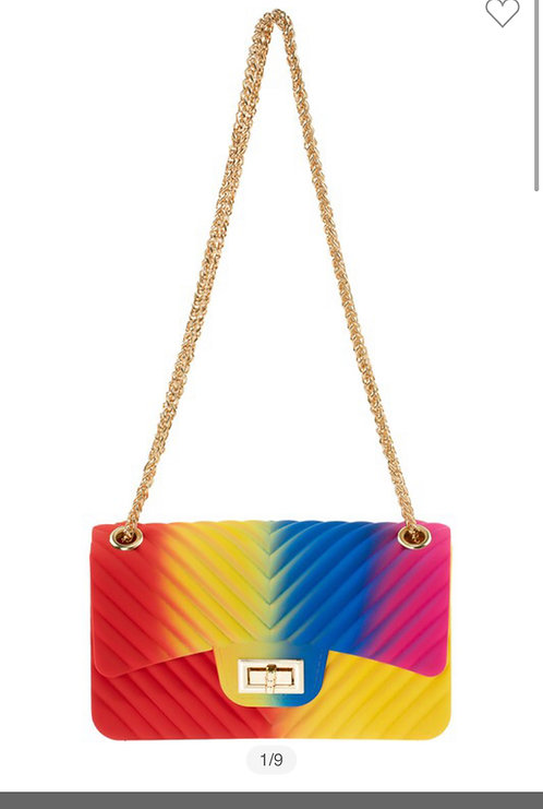 Kurvy Chevron Jelly Crossbody Bag