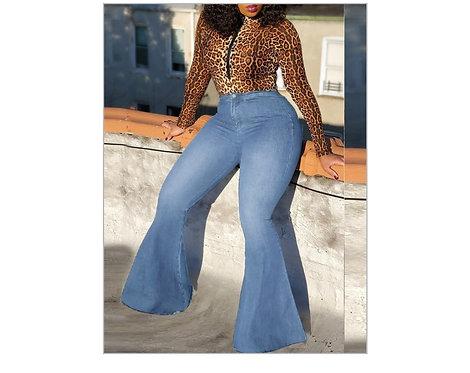 Kurvy Billie Jeans High-Waist Flare Legs