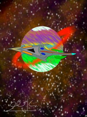 חללית קרב בחלל A Fighter in a Space
