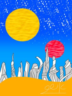 עיר עתידית בחולות Futuristic City in the Sands