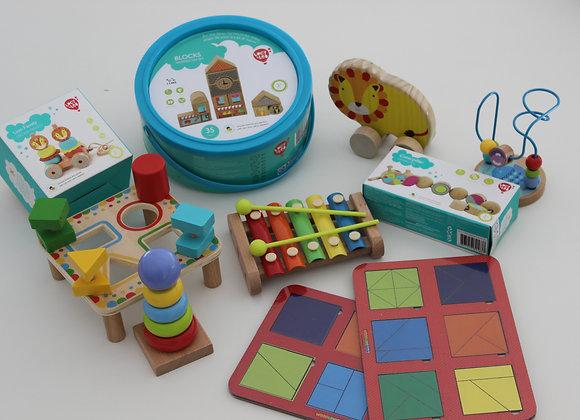 Ensemble de 10 jouets pour les enfants 0-18 mois