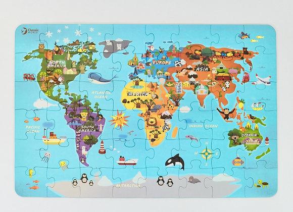 """Puzzle """"Carte du monde"""" (48 elements)"""