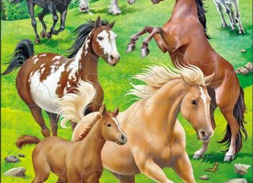 """Puzzle """"L'utilisation et le soin à grande échelle des chevaux"""""""
