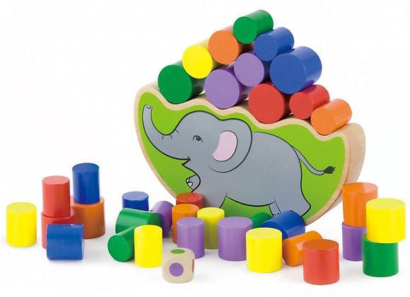 """Jeu d'équilibre en bois """"Eléphant"""""""