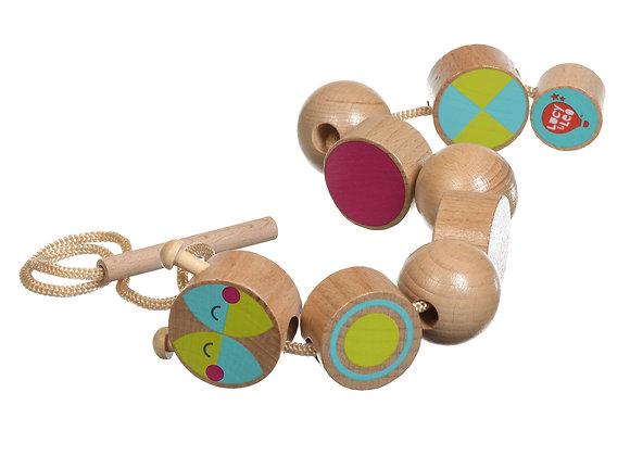 Perles à enfiler en bois