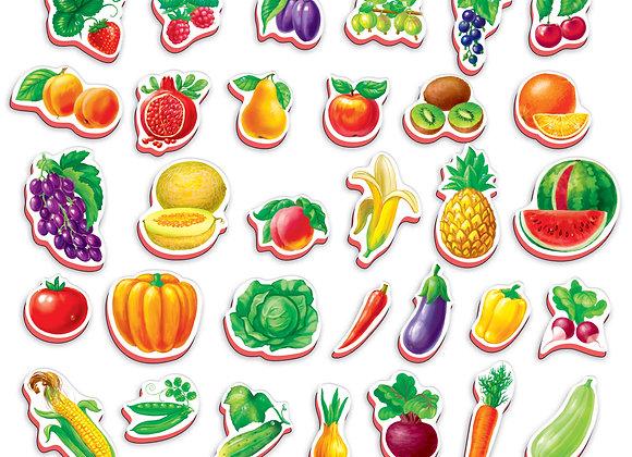 Mon petit monde sur les aimants Fruits, légumes
