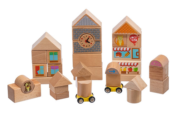 Grand coffret avec blocks en bois