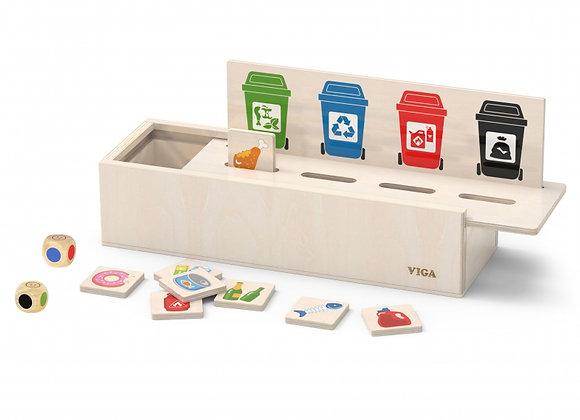Jouet de tri des ordures (jouet en bois)