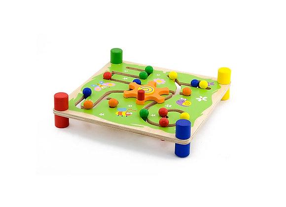 Suivre et tracer, jouet en bois