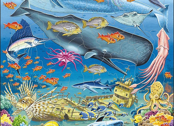 """Puzzle """"La vie marine dans l'océan Pacifique"""""""