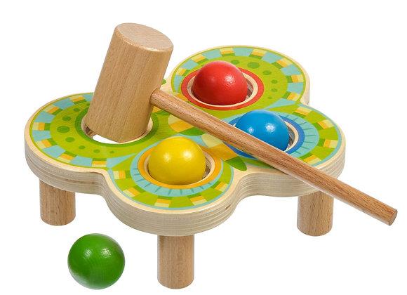 Tap-tap en bois multicolore
