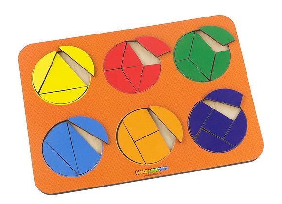 Plier le cercle, 6 cercles, 2eme niveau