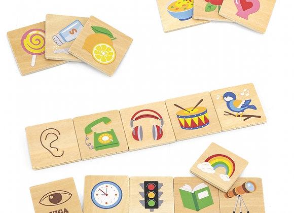 Puzzle d'apprentissage 5 sens