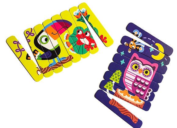 """Puzzle sticks """" Oiseaux»"""