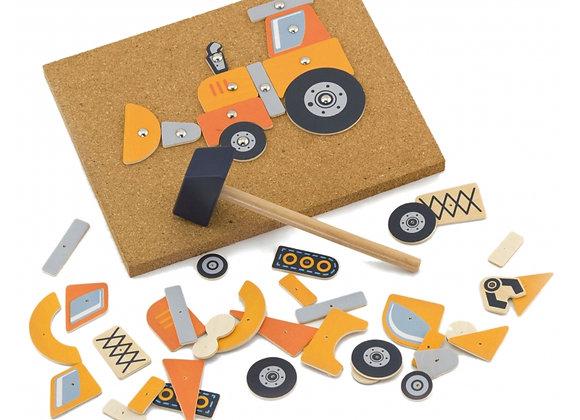 """Kit créatif """"Véhicules de construction"""""""