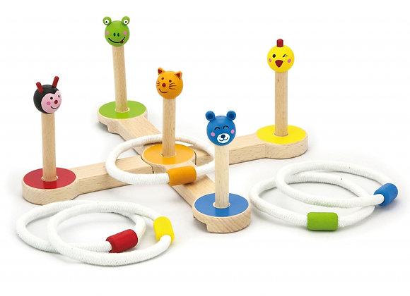 Gibier à sonneries animaux multicolores, Viga Toy