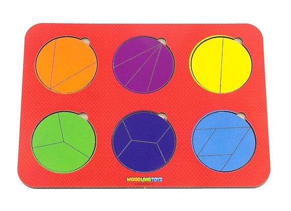 Plier le cercle, 6 cercles, 1er niveau