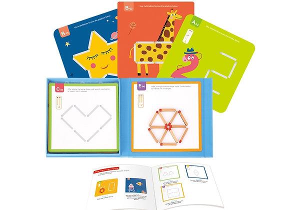 Allumettes magnétiques pour les enfants, 58 el.