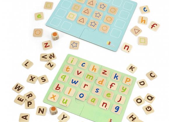 Jeu alfabetéducatif en bois 54-pièces