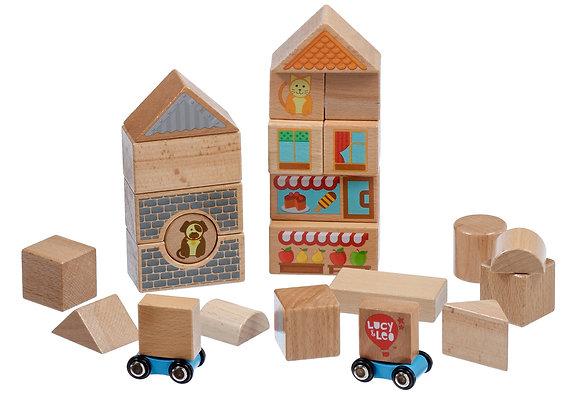 Medium coffret avec blocks en bois