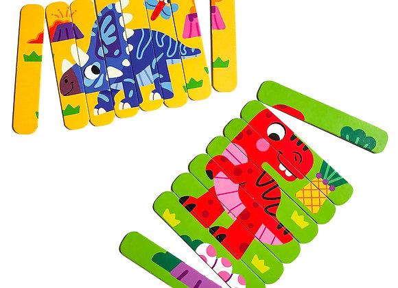 Puzzle bâtons «Dinosaures»