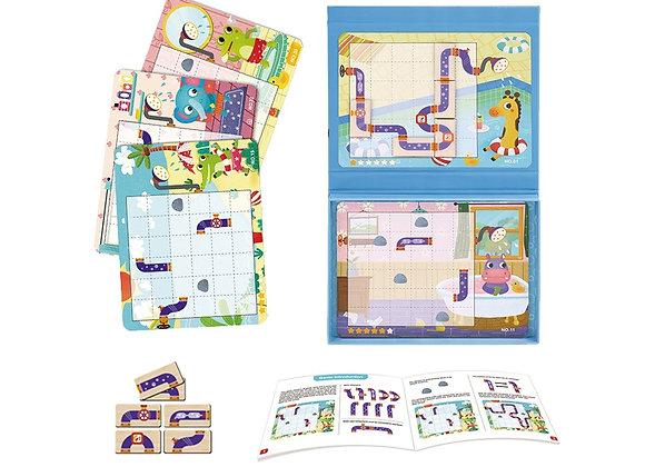 Jeu de Puzzle Magnétique pour Enfants 40 pièces