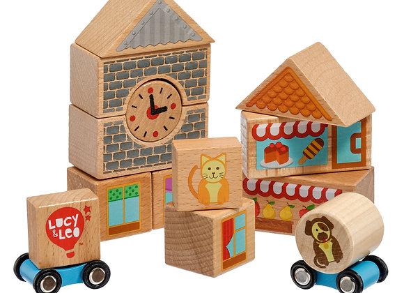 Petit coffret avec blocks en bois