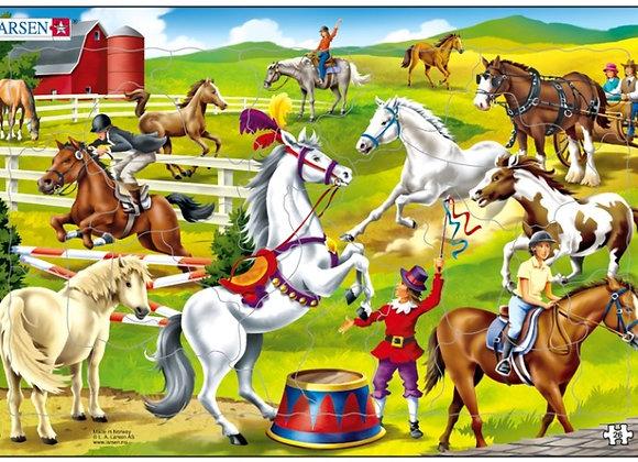 """Puzzle """"Au Centre Equestre"""" 26 pièces"""