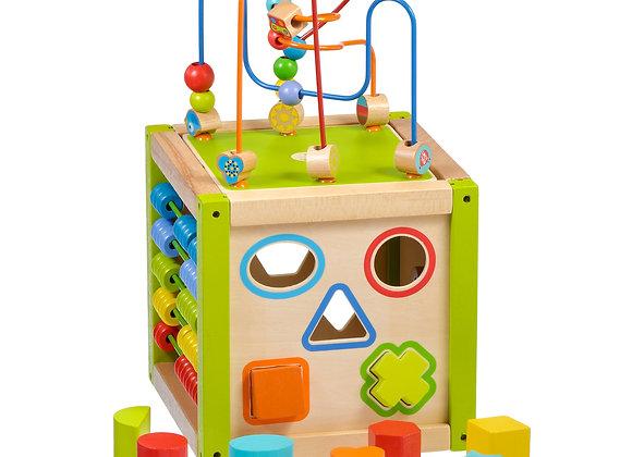 Cube d'activité en bois